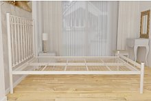Vallois Bed Frame Lily Manor Colour: Ivory, Size: