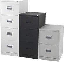 Value Line Metal Filing Cabinet, Black