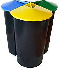 VAM Durable Recycling Bin with 3Compartments,