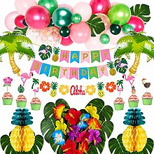 VAMEI Hawaiian Party Decorations Topical Party