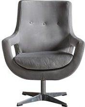Vamota Velvet Upholstered Swivel Bedroom Chair In