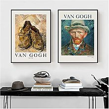 Van Gogh Self Portrait Poster Shoes Classic Canvas
