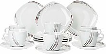 VAN WELL 18-Piece Set Jamie coffee set for 6