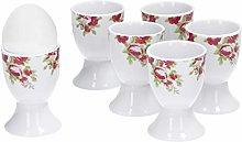 VAN WELL 6-piece set egg cups rose dream I egg