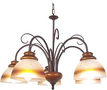 Vandegrift 5-Light Shaded Chandelier ClassicLiving