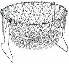 VANELIFE Foldable Fry Basket,Stainless Steel Deep