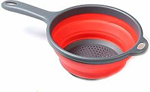 VANELIFE Handled Colander,Collapsible Folding