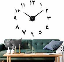 VANGOLD Arabic Number Wall Clock DIY Frameless