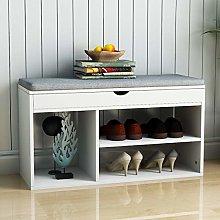 Vanimeu Hallway Shoe Storage Bench White with