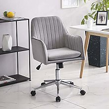 Vanimeu Velvet Office Chair with Arms for Home