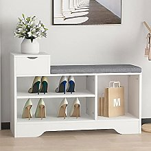 Vanimeu Wooden Shoe Storage Bench with Seat,