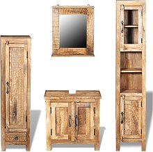 Vanity Cabinet with Mirror and 2 Side Cabinets