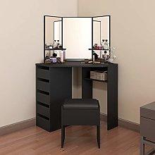 Vanity Corner Dressing Table Set with 3 Large