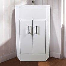 Vanity Corner Unit Sink Cabinet Bathroon Basin