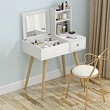 Vanity Desk With Flip Top Mirror and Tool Set with
