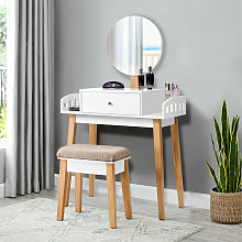 Vanity Makeup Dressing Table Wooden Cosmetic Table