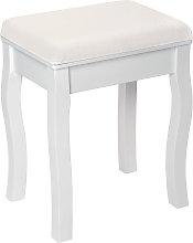 Vanity stool rose pattern - white