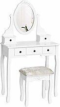 Vanity Table Set with Mirror Dressing Table with