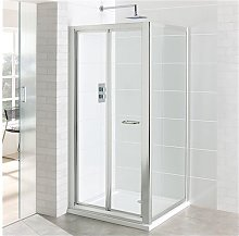 Vantage Easy Clean Bi-Fold Door 900mm - Silver -