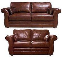 Vantage Italian Leather 3 Seater + 2 Seater Sofa