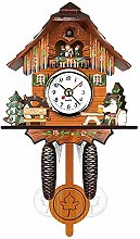 Vaorwne Antique Wooden Cuckoo Wall Clock Bird Time