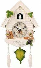 Vaorwne Cute Bird Wall Clock Cuckoo Alarm Clock