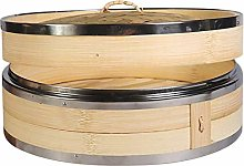 Vaorwne Kitchen Bamboo Steamer with Double