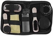 Vaorwne Portable Shoe Care Kit (Black & Neutral