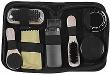 Vaorwne Portable Shoe Care Kit (Black & Neutral