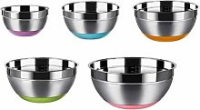 Vaorwne Stainless Steel Mixing Bowls (Set of 5)