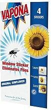 Vapona Window Stickers Sunflower x 12 Insect Flies
