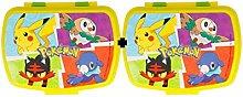 Varie Pokemon STOR Funny Sandwich Box - Pack of 2