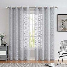 Variegatex Gray Sheer Curtain 84 Inches Long for