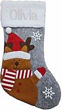 Varsany Premium Personalised Christmas Stocking,