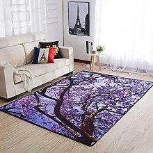 Vartanno Purple Tree Ultra Soft Shag Carpets,for