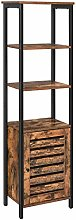 VASAGLE 4-Tier Tall Cabinet, Storage Cabinet with