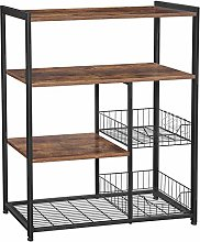 VASAGLE Baker's Rack, Kitchen Island with 2