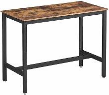 VASAGLE Bar Table, Industrial Kitchen Table,