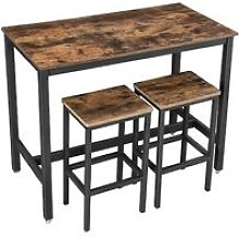 VASAGLE Bar Table Set, Bar Table with 2 Bar
