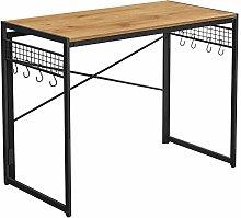 VASAGLE Computer Desk, Folding Writing Desk with 8