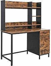 VASAGLE Computer Desk with Shelf Unit, Office Desk