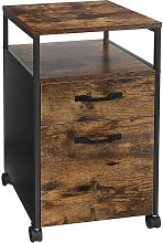 VASAGLE File Cabinet with 2 Drawers, Rolling