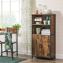 VASAGLE Floor Standing Cabinet, Storage Cabinet,