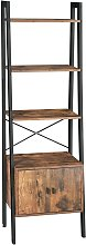 VASAGLE Ladder Shelf, Bookshelf with Cupboard,