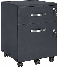 VASAGLE Mobile File Cabinet with Locks and