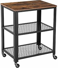 VASAGLE Serving Cart Trolley, Industrial Kitchen