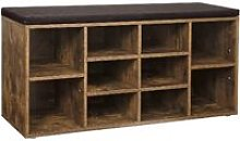 VASAGLE Shoe Bench, Shoe Shelf, Shoe Rack, Storage