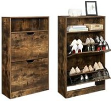 VASAGLE Shoe Cabinet with 2 Flaps, Shoe Rack with