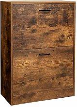 VASAGLE Shoe Cabinet with 2 Flip Doors, Adjustable