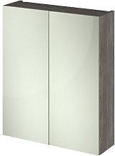 Vasari Apex Brown Grey Avola Double Door Mirror
